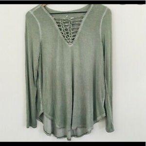 AE Soft & Sexy Green Long-Sleeve Shirt